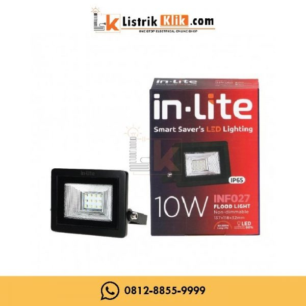 IN-LITE LED LAMPU SOROT FLOOD LIGHT 10 WATT KUNING