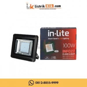 IN-LITE LED LAMPU SOROT FLOOD LIGHT 100 WATT PUTIH