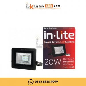 IN-LITE LED LAMPU SOROT FLOOD LIGHT 20 WATT KUNING