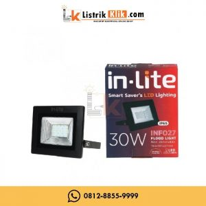 IN-LITE LED LAMPU SOROT FLOOD LIGHT 30 WATT PUTIH